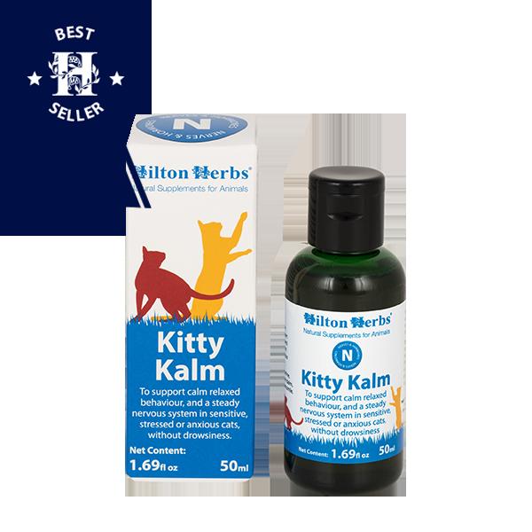 Kitty Kalm - 50ml bottle and box with best seller rosette