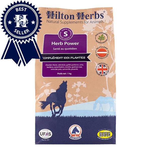 Un sac de Herb Power complément pour le bien être et la vitalité des chevaux de Hilton Herbs