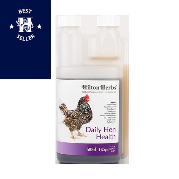 Daily Hen Health - 500ml bottle with best seller rosette