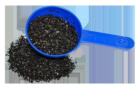 Une mesure de charbon actif pour chevaux de Hilton Herbs