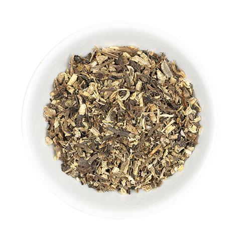 Echinacea cur root in dish