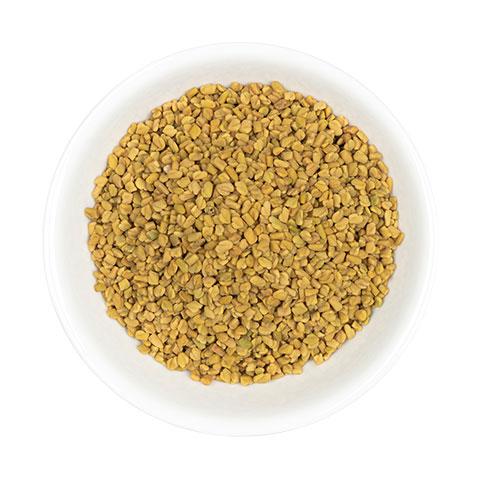 Fenugreek seed in dish