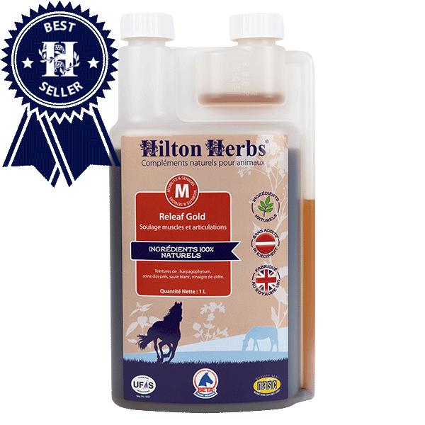 Flacon de Releaf Gold anti-inflammatoire de Hilton Herbs